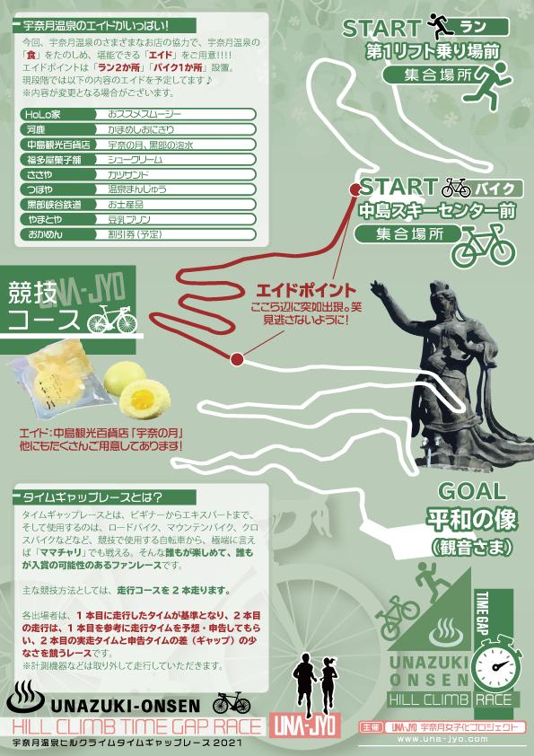 宇奈月温泉ヒルクライムタイムギャップレース2021チラシ裏